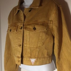 Guess Jackets & Coats - Vintage style Guess denim jacket mustard yellow